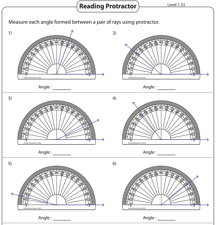 Worksheets: Measuring Angles With Protractor Worksheet At Alzheimers-prions.com